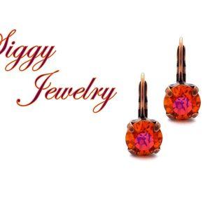 Swarovski® Crystal Earrings, 8mm Astral Pink Drops